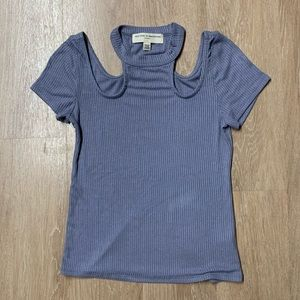 Urban Outfitters Ribbed Cold Shoulder Top